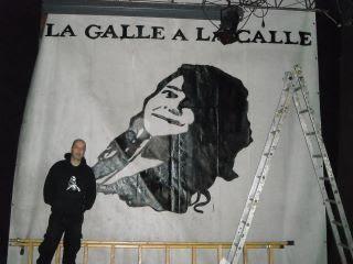 Pancarta para recital - Barcelona