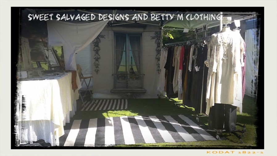 sweet salvaged design and Betty M clothing.