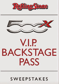 Fiat 500X VIP Pass Sweepstakes