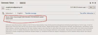 pajak efiling cara mengirim token email