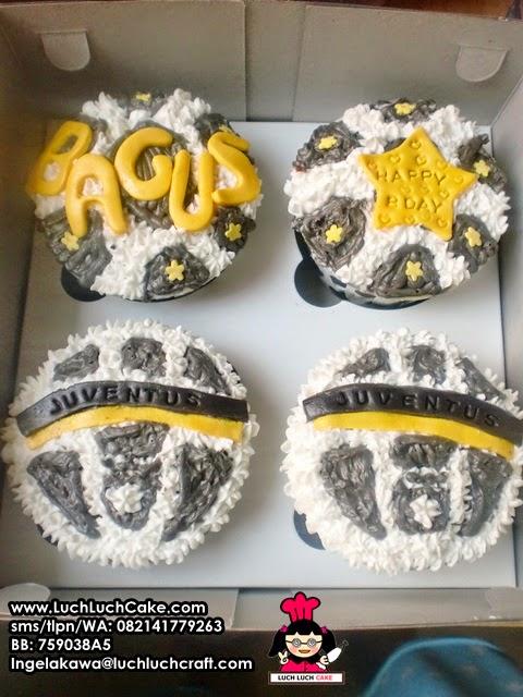 Cupcake Juventus Buttercream Daerah Surabaya - Sidoarjo