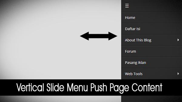 Vertical Slide Menu Push Page Content