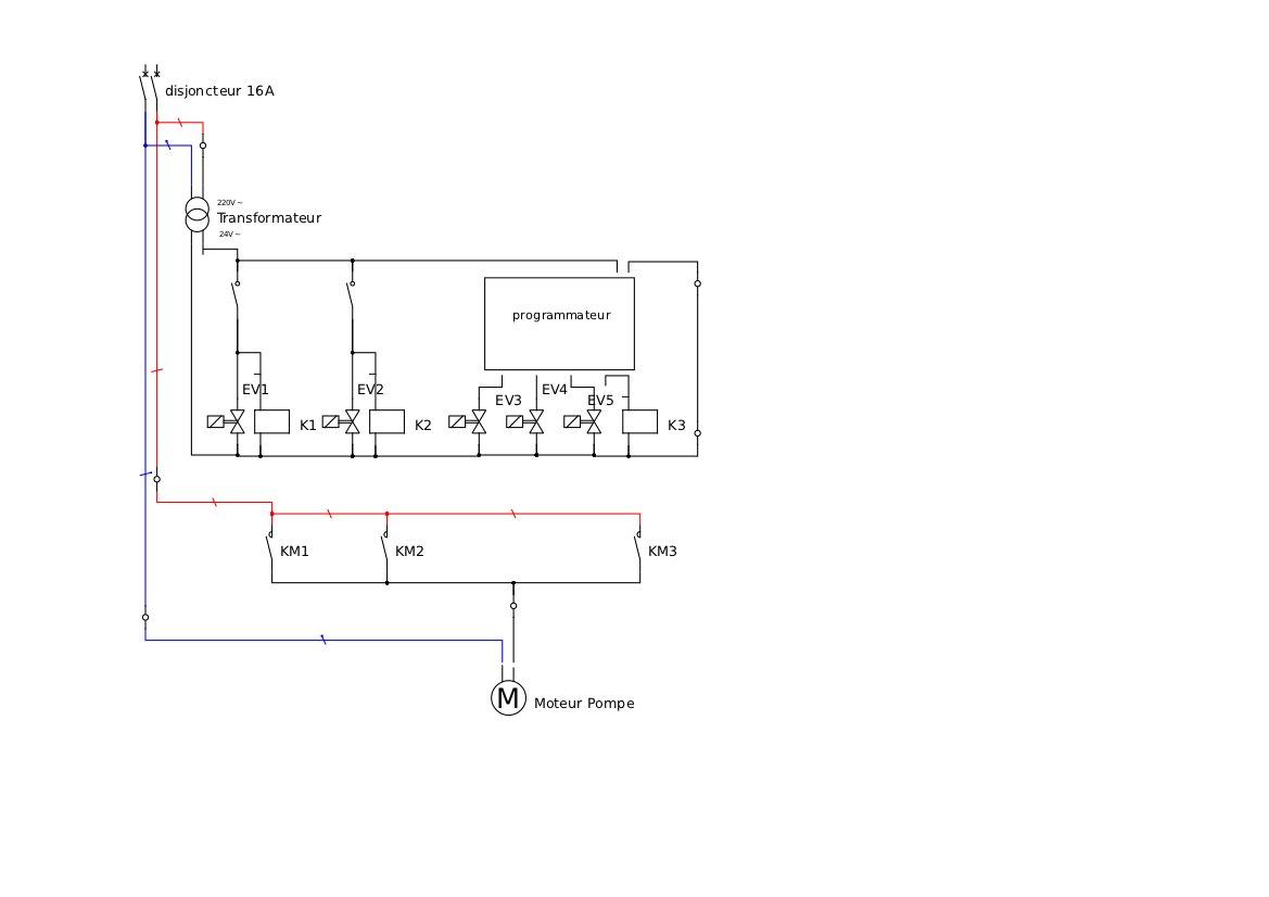schema electrique electrovanne arrosage. Black Bedroom Furniture Sets. Home Design Ideas