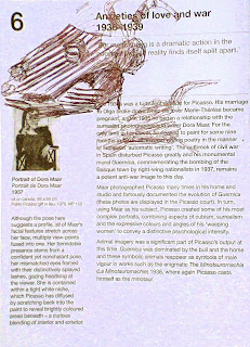 sketch of Picasso drawings sculpture and paintings by artist Jane Bennett