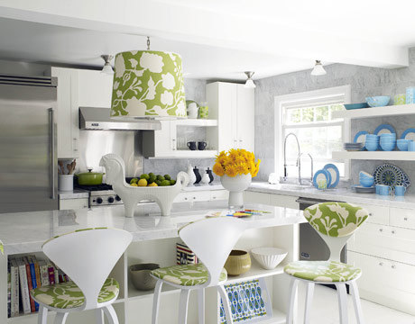 Modern Furniture Colorful Kitchens Decorating Summer 2013