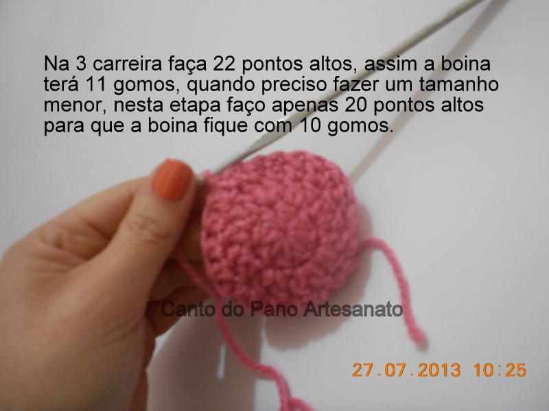 Canto do Pano Artesanato  Boina ou Gorro Infantil em Crochê com PAP ... 0ed91a0e921