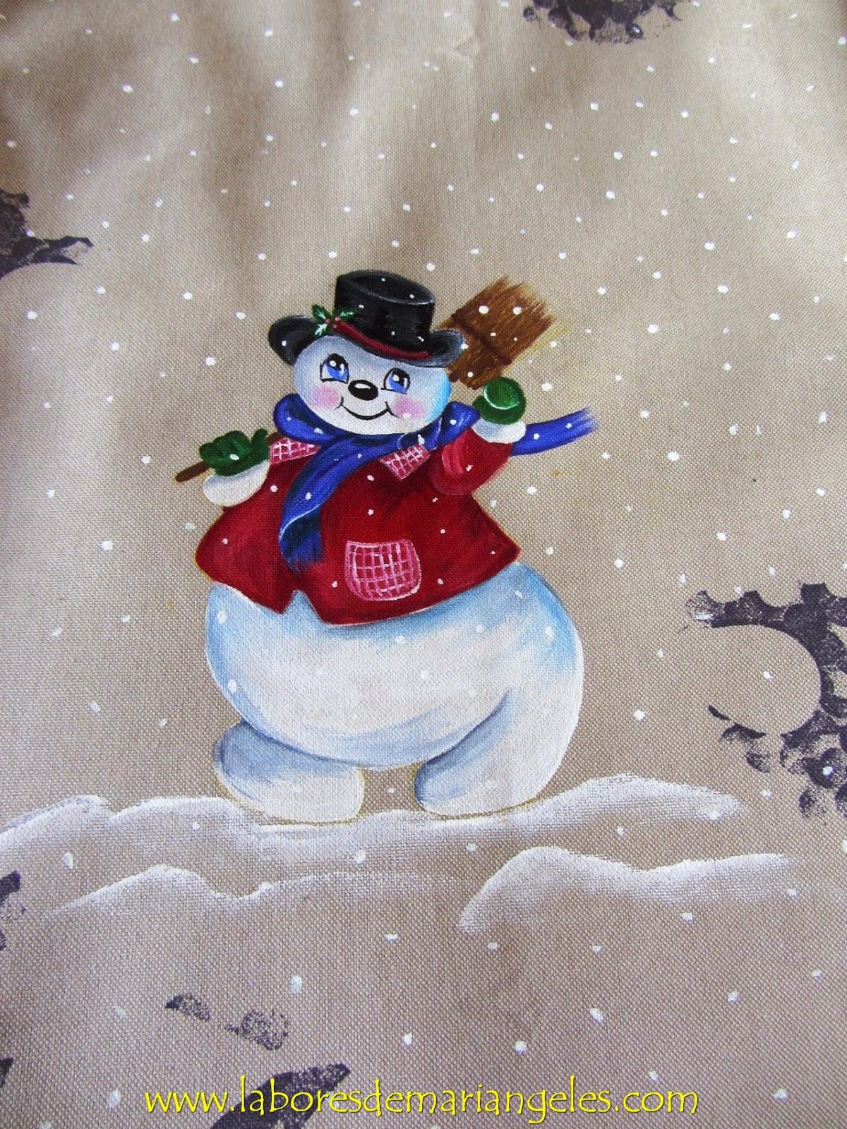 Labores de mari angeles pintando sobre tela motivos navide os - Pintura en tela motivos navidenos ...