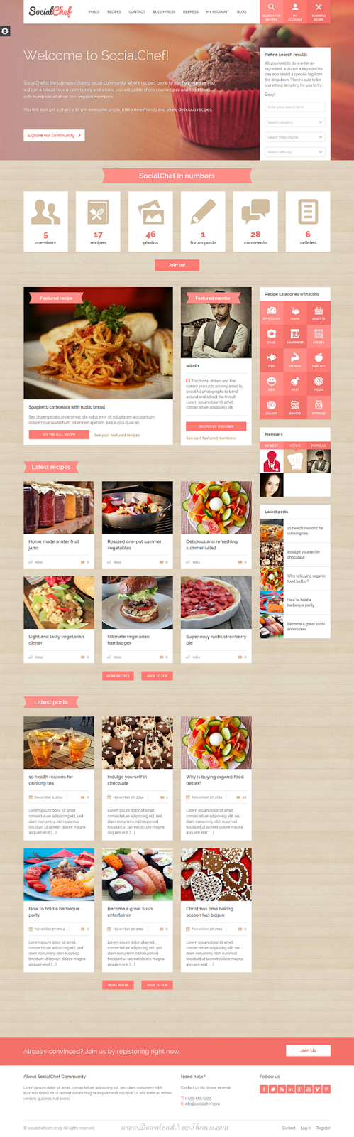 Responsive Food and Recipe Website Theme
