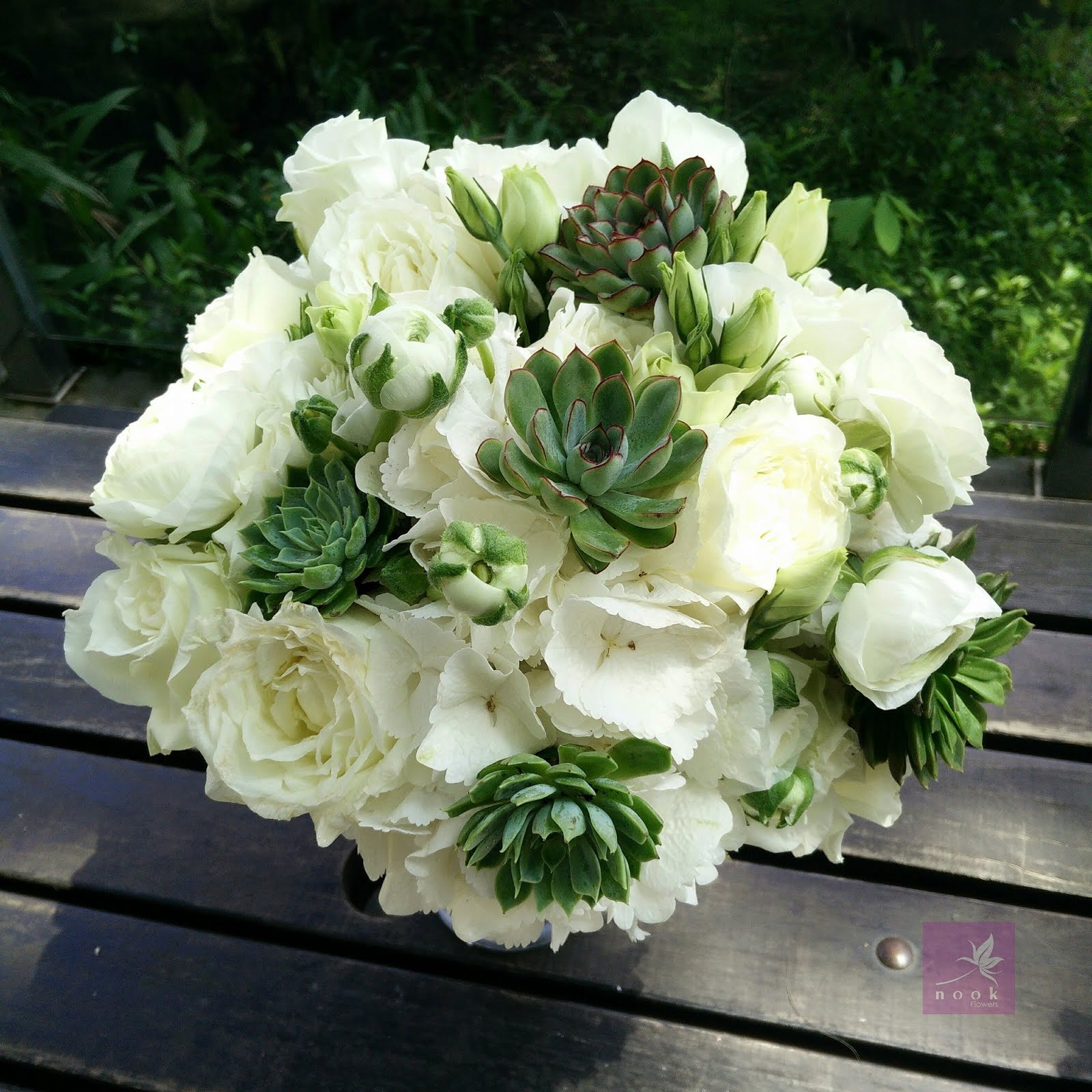 Nook Flowers A White And Succulent Wedding