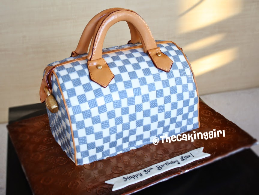 louis vuitton purse cake, lv bag cake