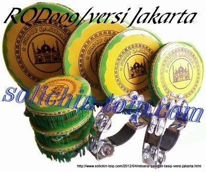 Contoh Rebana Qasidah kualitas sedang atau standar versi Jakarta.