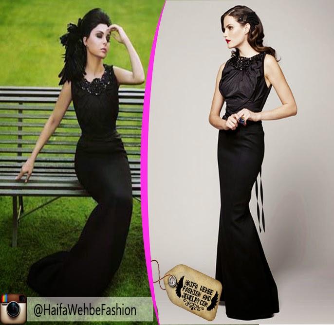 Haifa Wehbe Fashion And Jewelry Haifa Wehbe Wearing Black Dress By