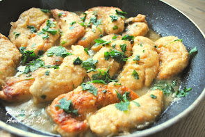 Chicken Tenders Smothered in Lemon & Parsley