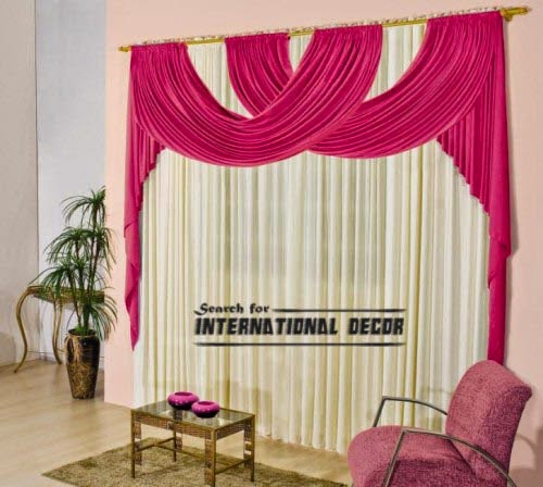 Modern curtain design and pink drapery, curtain and drapes, modern pink curtains