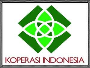 BENTUK : Logo Sekuntum Bunga Teratai bertuliskan KOPERASI INDONESIA