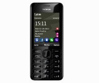 Buy Nokia 206 Dual Sim (Black) worth Rs.4299 for Rs.3394 at Amazon