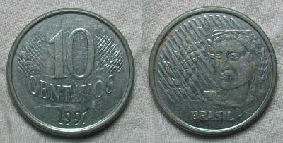 Brazil 10 centavos 1997