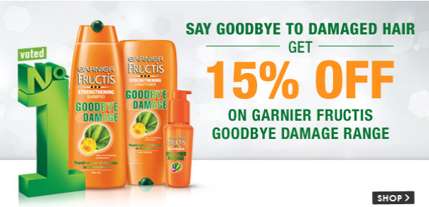 Snapdeal : Garnier Haircare Products || Flat 15 % off
