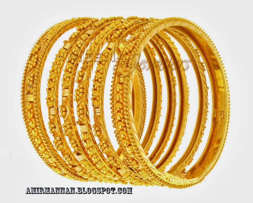 Bangles Jewellers: Pakistani Bridal Gold Bengals Jewelry Collection 4