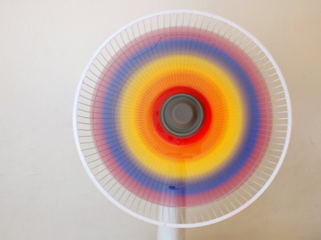 how to paint a rainbow fan DIY