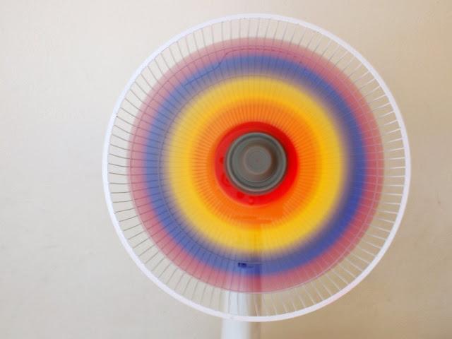 how to paint a rainbow fan DIY