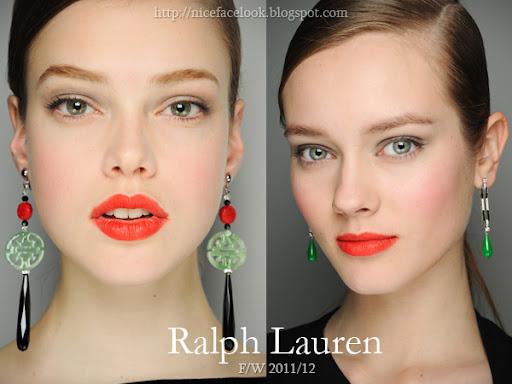Ярки оранжево-червени устни