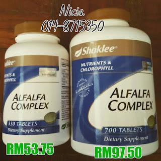 Chlorophyll; Alfalfa; anti-inflammation; natural minerals; Shaklee Penang; Alfalfa Shaklee; vitamins