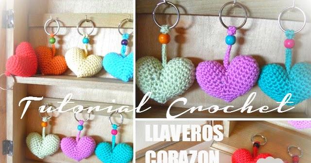 Llavero Corazon Amigurumi / Tutorial Todo crochet