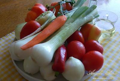 Preparare ghiveci de legume-etrapa 1