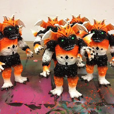 New York Comic-Con 2012 Exclusive Candy Corn Satan Custom Ultrus Bog Vinyl Figures by Skinner