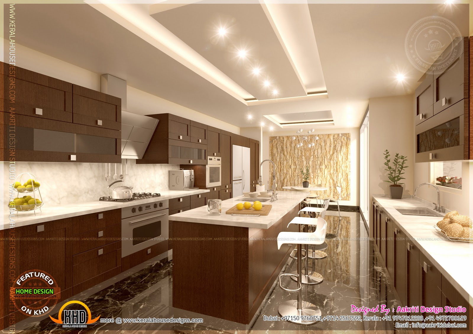 Kitchen designs by aakriti design studio kerala home for Kitchen plans and designs