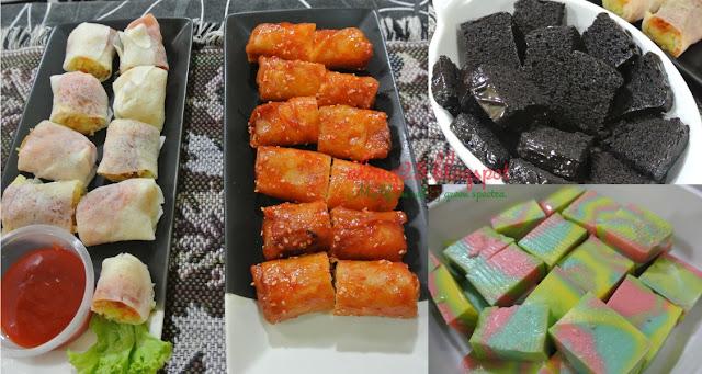 blog along25 menu buka iftar kuih-muih popiah gulung basah goreng bersira pedas kek coklat puding roti pelangi