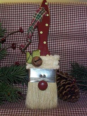 reciclagem - enfeite de natal - pincel