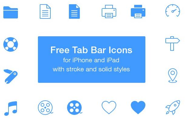 Free Tab Bar Icons PSD
