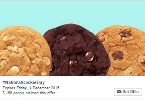Subway Free National Cookie Day