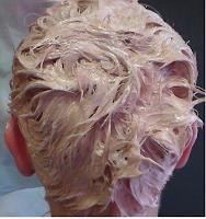 Platina szőke hajfestés otthon