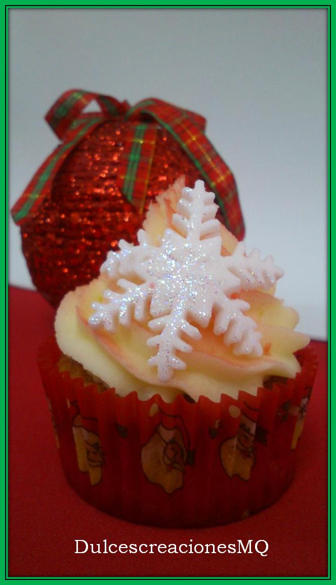 Cupcakes Navidad Frambuesa Buttercream Vainilla