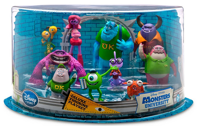 caja figuras monstruos university disney store