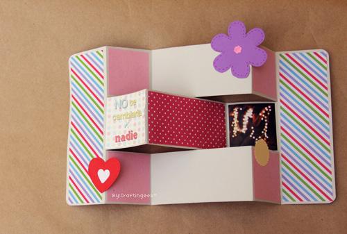 Tarjeta estrella scrapbook facil star card diy - Como hacer tarjetas para regalar ...