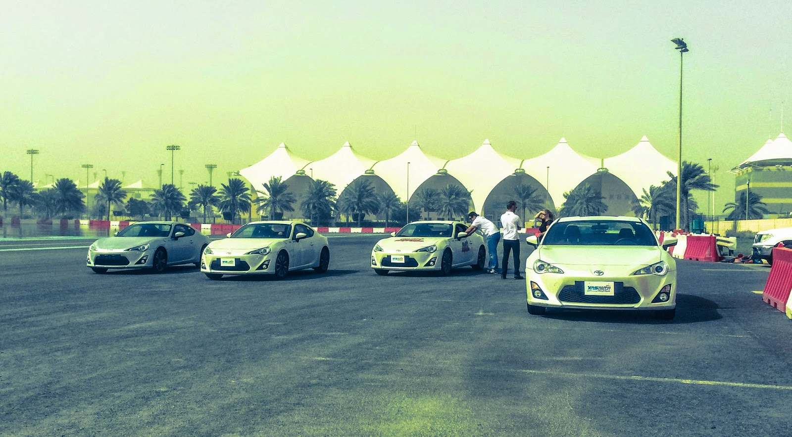 Toyota 86 drifting at Yas Marina Circuit