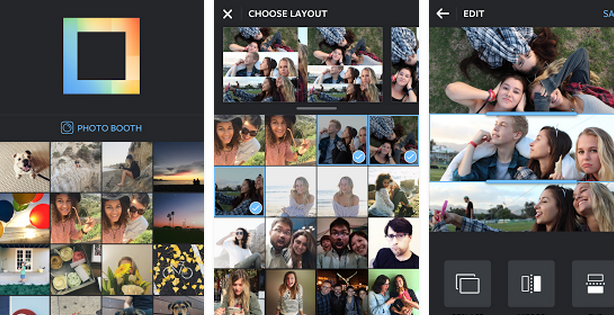how to make layout pictures in instagram