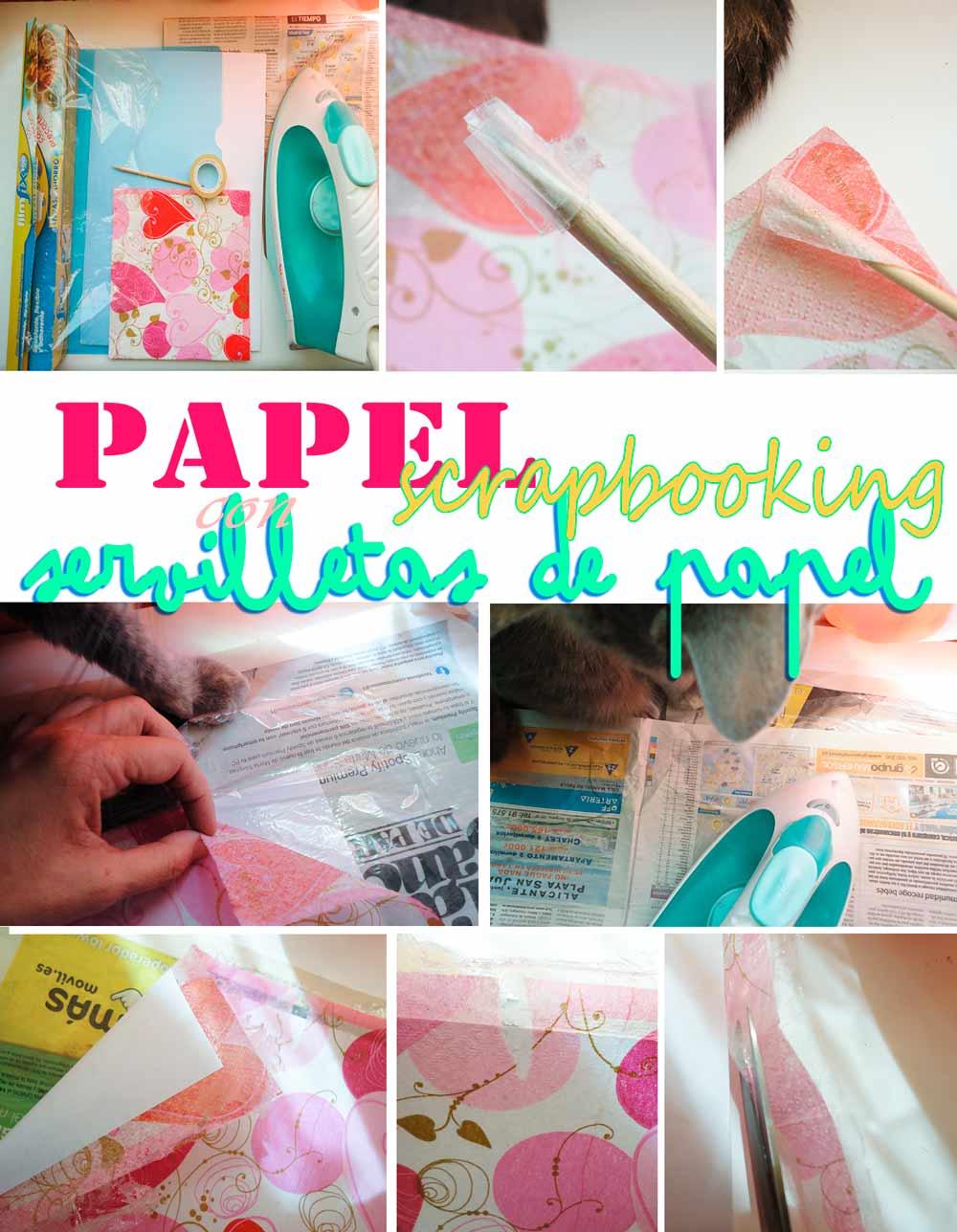 Como hacer papel scrap con servilletas i el tocador de - Servilletas de papel decoradas para manualidades ...