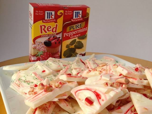 Peppermint Bark Made Easy with McCormick - Budget Fairy Tale