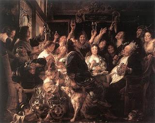 El rey bebe - Jacobo Jordaens