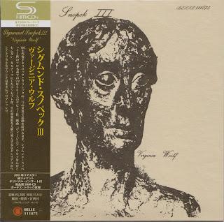 SIGMUND SNOPEK III - VIRGINIA WOOLF (WATER STREET 1972) Jap mastering cardboard sleeve + 2 bonus