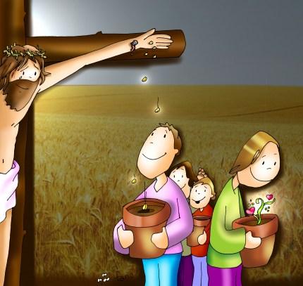 Cristo reparte  su  semilla