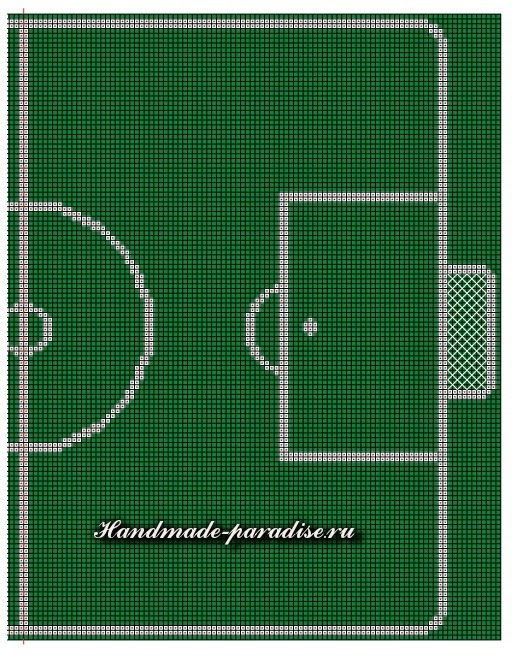 Схемы салфетки с вышивкой для футболиста