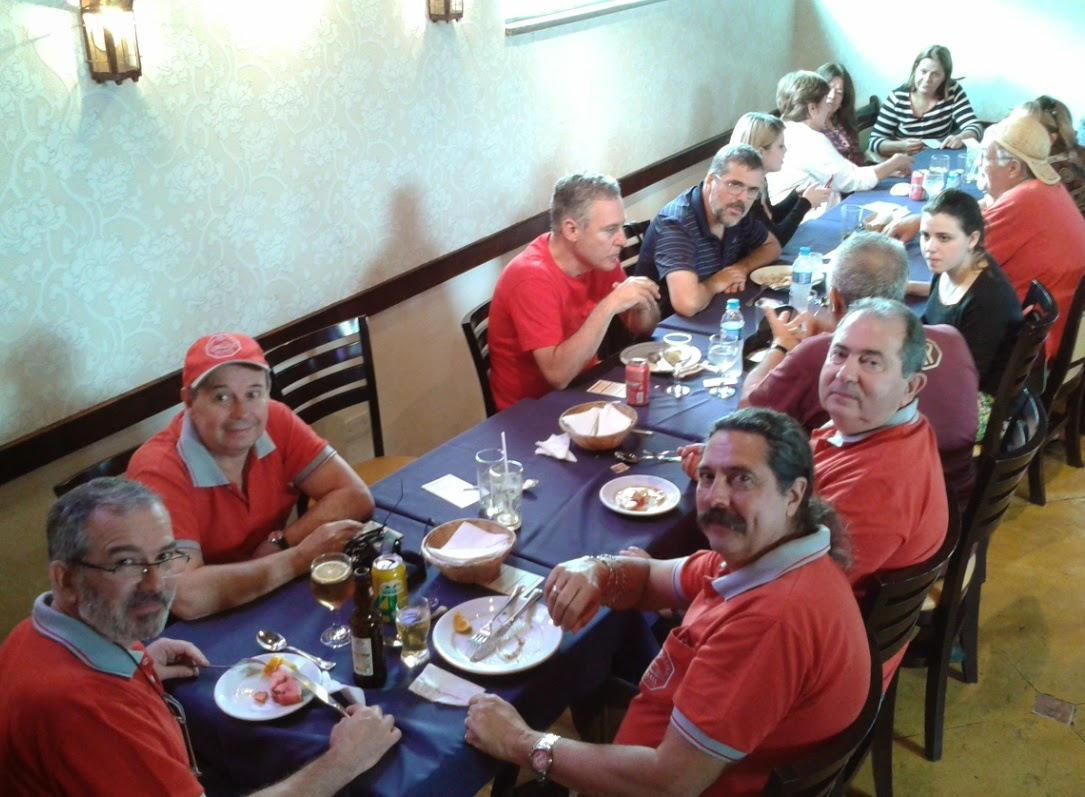 Membros do Clube MP Lafer Brasil almoçam em Santana de Parnaíba.
