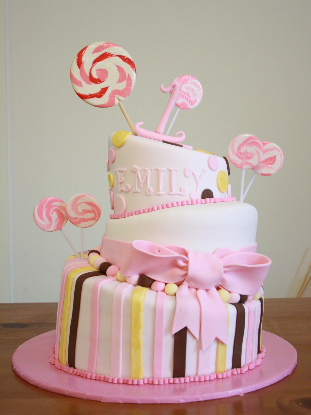 Becca s Musings: My Little Girls Birthday Cakes