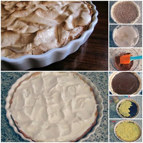 Paso a paso receta Tarta de merengue y lemon curd